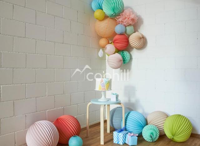 25cm Accordion Pleated Paper Lanterns Watermelon Lantern Wedding Party  Birthday Baby Shower Home Yard Garden Decor