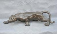 Xd 003428 15 Brąz Solidna Odważny Amazon Jaguar Mięsożernych Rzeźby Zwierząt Statua w Posągi i rzeźby od Dom i ogród na