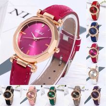 Fashion Women Female Quartz Watch Leather Casual Luxury Analog Crystal  Laides Dress Wristwatch Christmas Thanksgiving Gift
