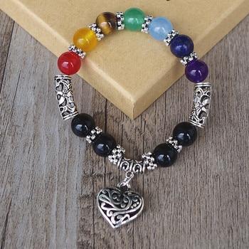 7 Chakra Bracelets Bangle Healing Stone Pray Mala5