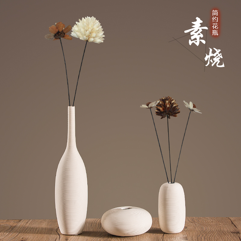 New Chinese Ceramic Dry Flower Arrangement In Nordic Style Vase Living Room Simulated Flower Arrangement Decoration For HomeNew Chinese Ceramic Dry Flower Arrangement In Nordic Style Vase Living Room Simulated Flower Arrangement Decoration For Home