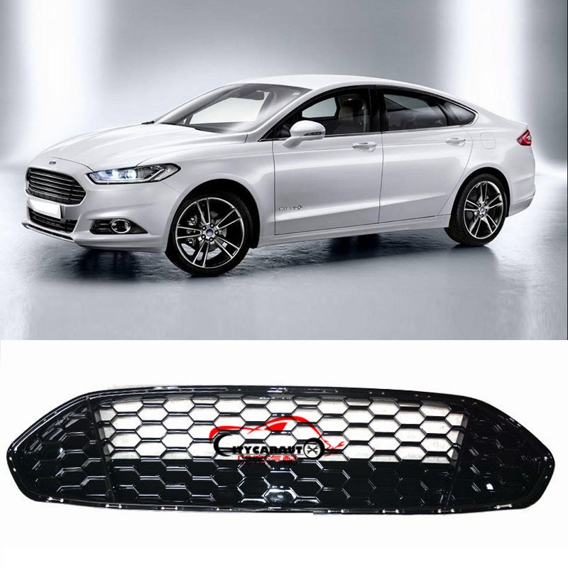 CITYCARAUTO MODIFIED AUTO MASK COVER FRONT RACING GRILLE GRILLS RAPTOR FRONT GRILL COVER FIT FOR MONDEO FUSION 2013 2016 CAR