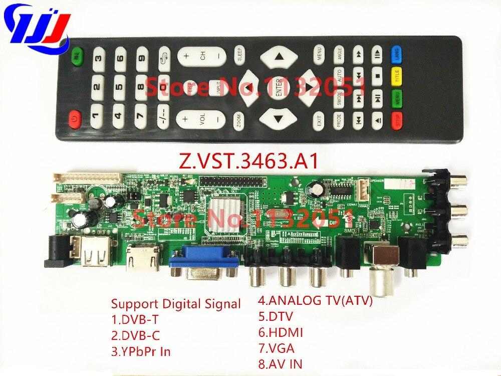 DS.D3663LUA.A81.2.PA V56 V59 Universal LCD Driver Board Support DVB-T2 Universal TV Board 3663