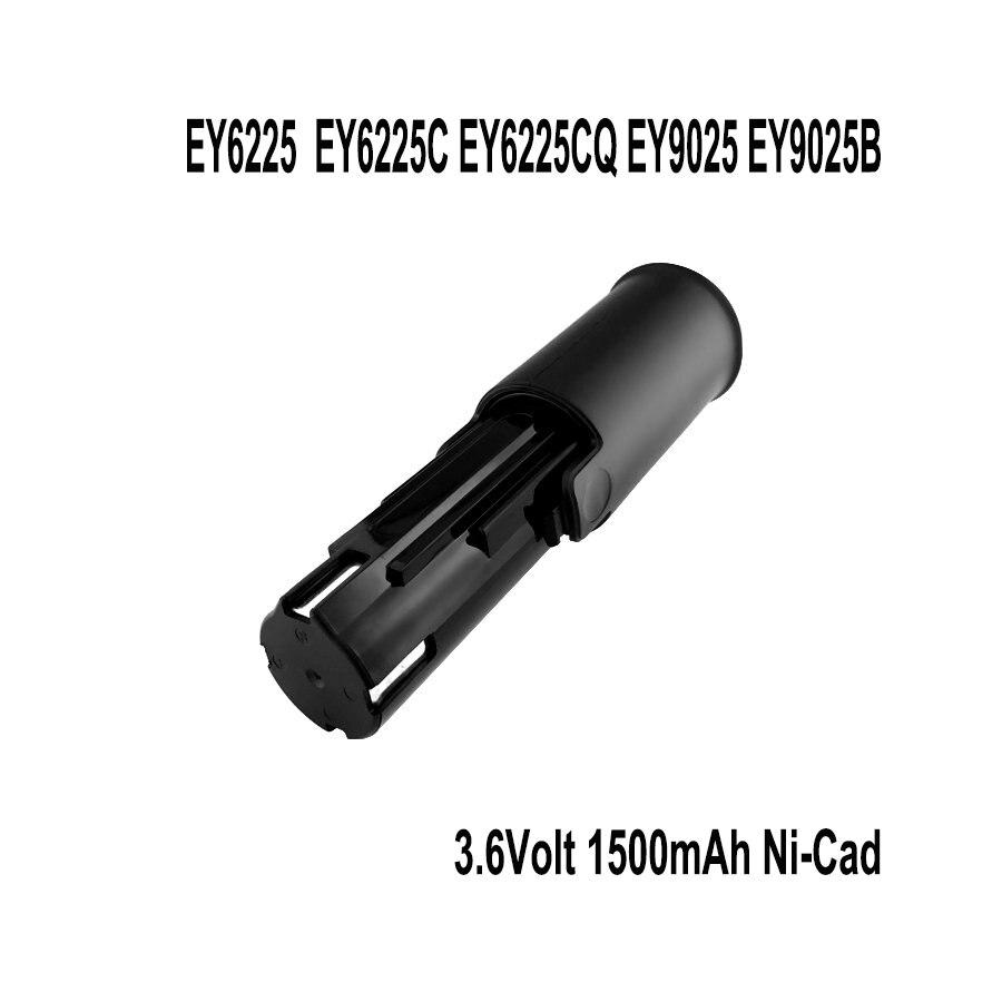 2x Замена Батарея для Panasonic 3.6 вольт ey6225, ey6225c, ey6225cq ey9025, ey9025b дрель Батарея