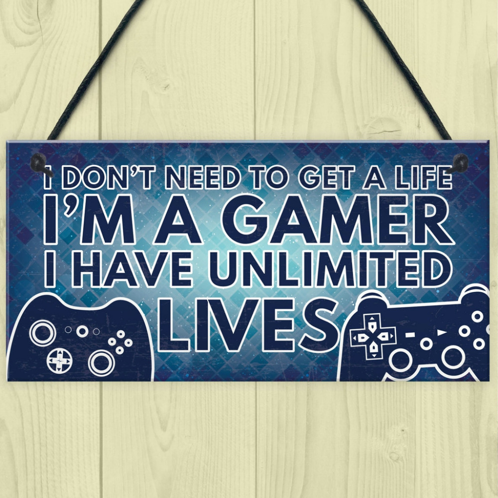 Gamer I'M A GAMER Best Friend Wood Rectangle Plaque Sign Friendship Decoration Xmas Gift Home Decoration wooden plaque 18
