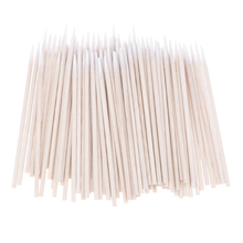 Natrual 100 Pcs Cotton Stick Clean Tool for jack iPhone Charge Port White Buds Tip Cleaning Tools