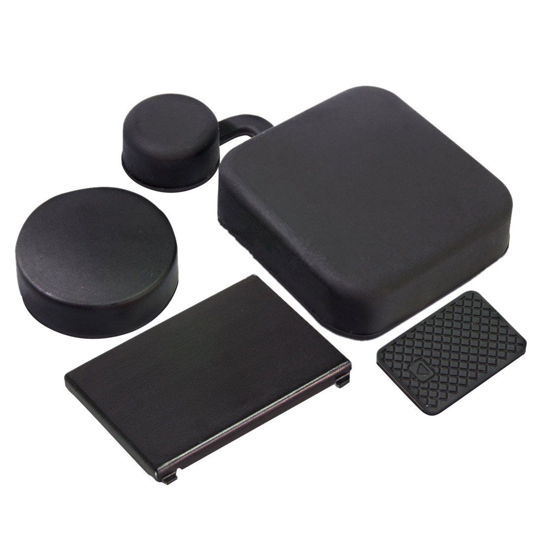 4 In 1 Housing Lens Cover+Lens Cap +Replacement Battery Door+Side Door Cover For GoPro Hero 4/3+ Camera