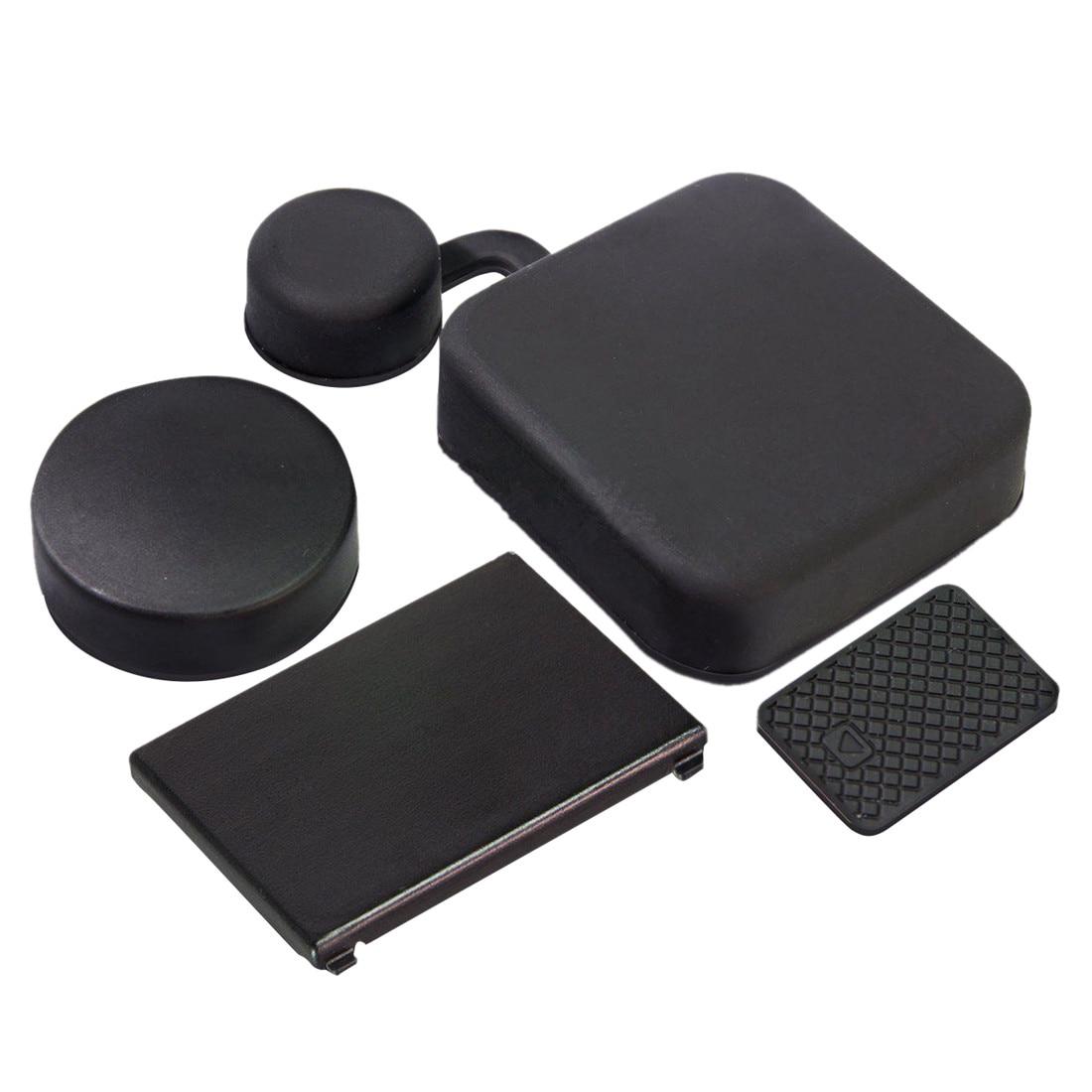 4 In 1 Housing Lens Cover+Lens Cap +Replacement Battery Door+Side Door Cover For GoPro Hero 4/3+ Camera