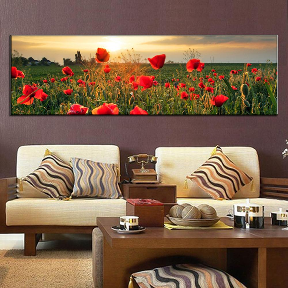 1 pieceset landscape canvas painting the flower fields super 1 pieceset landscape canvas painting the flower fields super printed canvas painting large wall art painting for hotel decor in painting calligraphy from solutioingenieria Choice Image