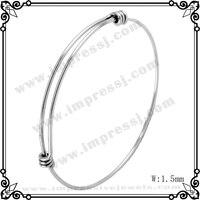 IJB0214 10pcs Lot Hot Sale 45mm 65mm 1 6mm Thick 316L Stainless Steel Bangle Bracelet Expandable