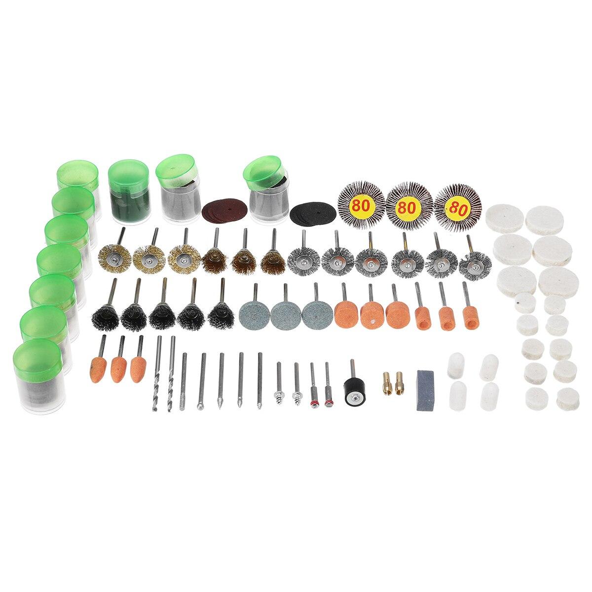 цена на 338pcs 1/8 Inch Shank Rotary Tool Accessories Set Polishing Cutting Grinding Bits for Dremel