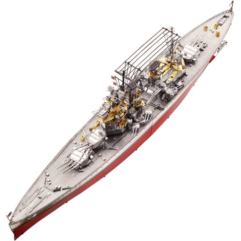 Piececool HMS Prince Of Wales Battleship 3D Metal Model Kits DIY Assemble Puzzle Laser Cut Jigsaw Building Toys P112-RSG GiftPiececool HMS Prince Of Wales Battleship 3D Metal Model Kits DIY Assemble Puzzle Laser Cut Jigsaw Building Toys P112-RSG Gift