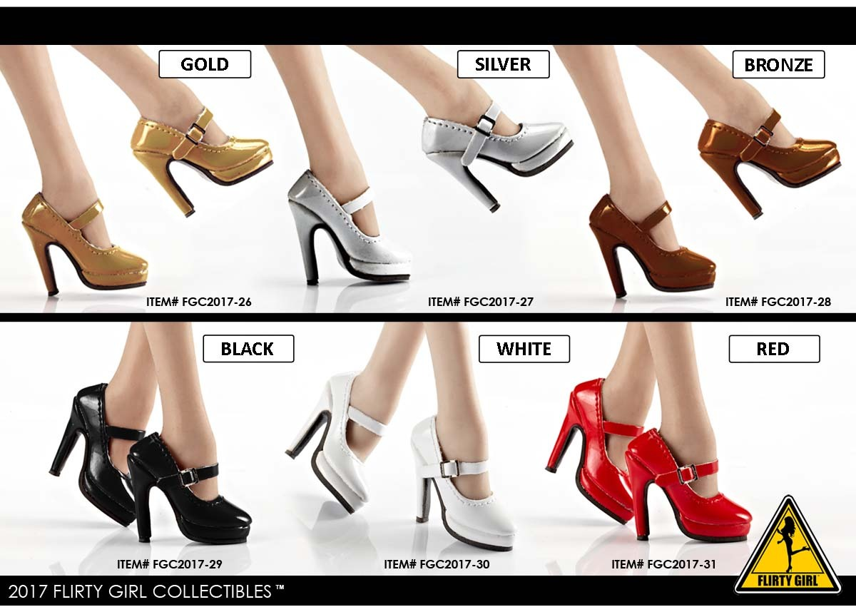 """1//6 Female High Heel Pumps Shoes PINK For Hot Toys 12/"""" Figures SHIP FROM USA"""