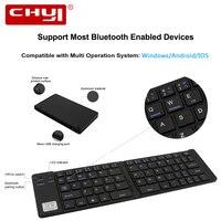 Ultra Thin Mini Portable Wireless Bluetooth Keyboard Folding Foldable Keyboard For IPhone IPad Mac IOS Android
