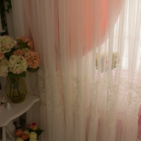New princess cloth and tulle curtains luxury Embroidery handmade cortina bedroom blackout curtains for living room wedding decor