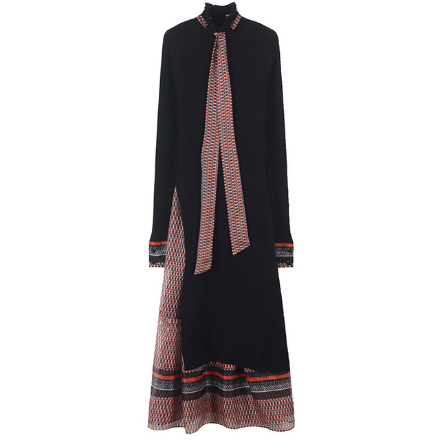 SRUILEE Design Slim Lace Up Striped Suit Femme 2019 New Spring 2 Piece Set Women Dress Ruffles Knit Outfits Runway Heart Set