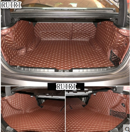 Good quality! Special trunk mats for Maserati Ghibli 2018 2014 waterproof cargo liner boot carpets for Ghibli 2017,Free shipping