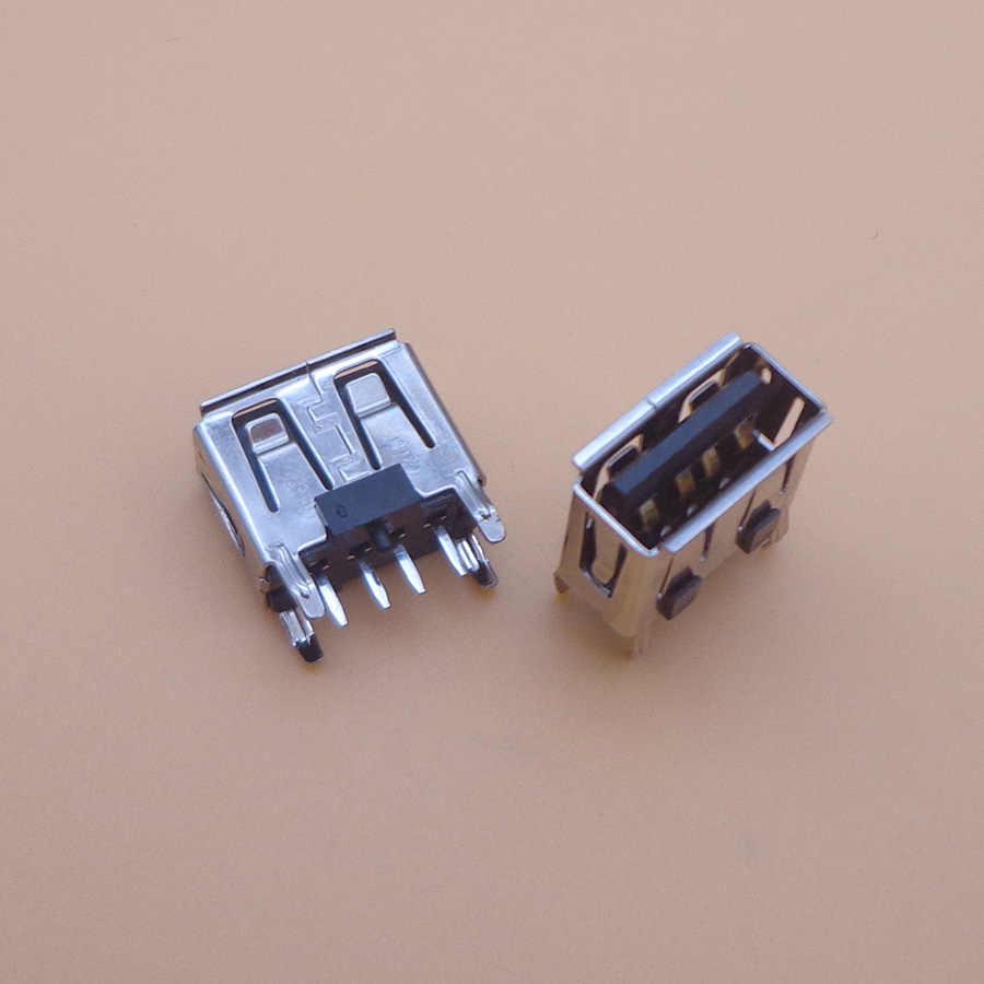 100 шт. материнская плата для ноутбука micro USB 2,0 4pin 4 pin DC Тип плоский угол (180 градусов) женский печатной платы разъем Разъем Черный
