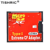 TISHRIC Micro SD TF to CF Card Adapter For MicroSD/HC to Compact Flash Type I Memory Card Reader Converter For Camera