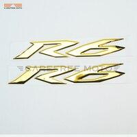 3d pvc الذهبي r6 الديكور ملصق moto الجسم ملصق ل yamaha yzf r6