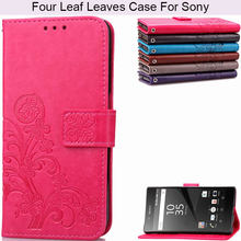 BEFOSPEY Vier Blad Telefoon Case Voor Sony Xperia Z2 Z3 Z5 Mini E3 E4 L1 E6 XP2 L50W L2 XA2 ultra XA3 Ultra(China)