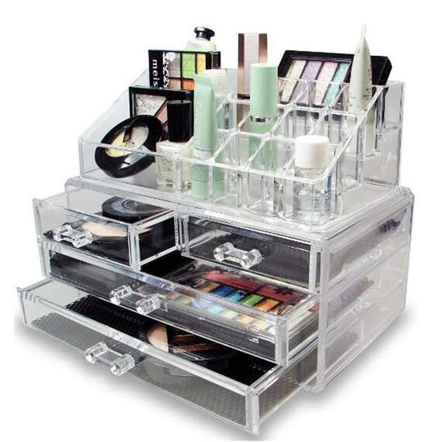 Clear Cosmetic Lipstick Storage Drawer Multifunction Acrylic Makeup