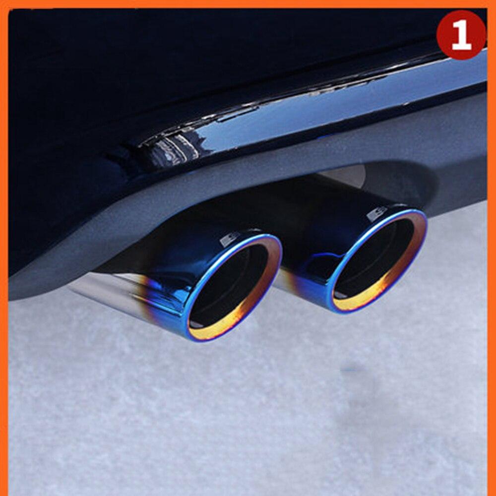 CHROME EXHAUST TAIL MUFFLER TIP PIPE For Audi A4L Q3 Q5 A5 A1 A3 A4 2012-2013