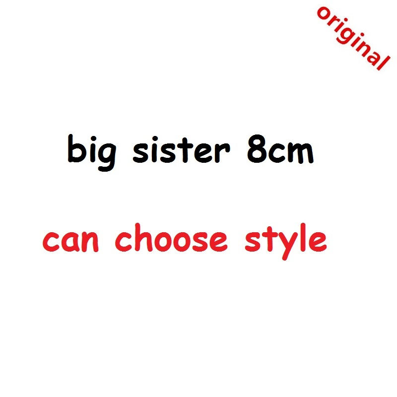 1pcs Original 8cm Doll Big Sister Plastic Baby Toy Figures Action DIY Toys For Girls Kids Gift