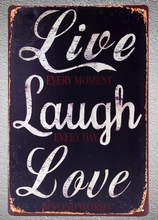 1 pc Love Quotes sign Tin Plate Sign plate wall man cave Decoration Art Dropshipping Poster metal