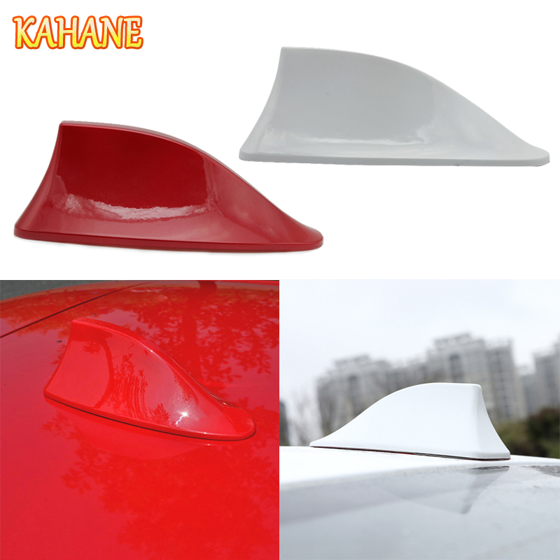 KAHANE Car Shark Fin Antenna Roof Antenna Sticker Auto Radio Signal Aerials FOR Honda CRV Civic Fit Accord Kia Rio Sorento Ceed super shark fin antenna special car radio aerials shark fin auto antenna signal for honda n one accessories