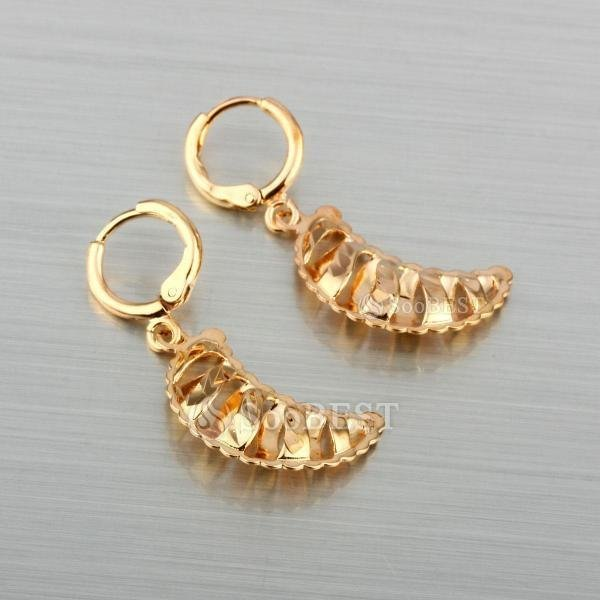 Free Shipping Hot Sale Earring 18K Gold Plated Hoop Earrings  Mix Order For Many Design #296097