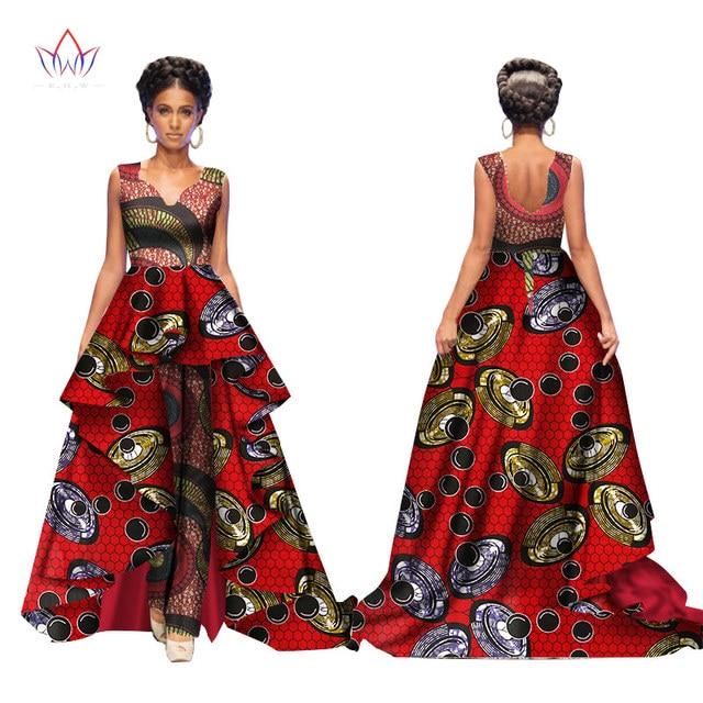 african 2017 summer bazin elegant jumpsuits for women maxi