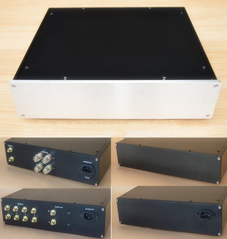 X3208-B all aluminum amplifier chassis/Tube amp /Class A amplifier /Pre-amplifier/AMP Enclosure/case/DIY box (320*80*310mm)