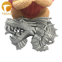 Silver Animal Belt Buckle With Dragon Design Men and Woman Jeans Accessories Dragon Belt Buckles Gift