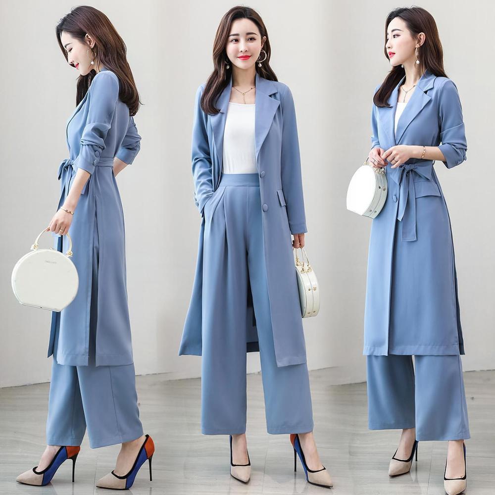 Solide veste Pantalon Slim D'affaires Costume pièce De Femmes Couleur Long Décontracté Deux qzwft78Sx