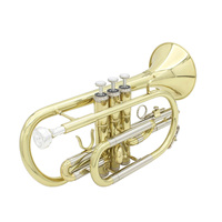 Professional Trumpet Brass Gold Trumpet Digital Mechanical Welding Pipe Music Adopts Brass Musical Instruments