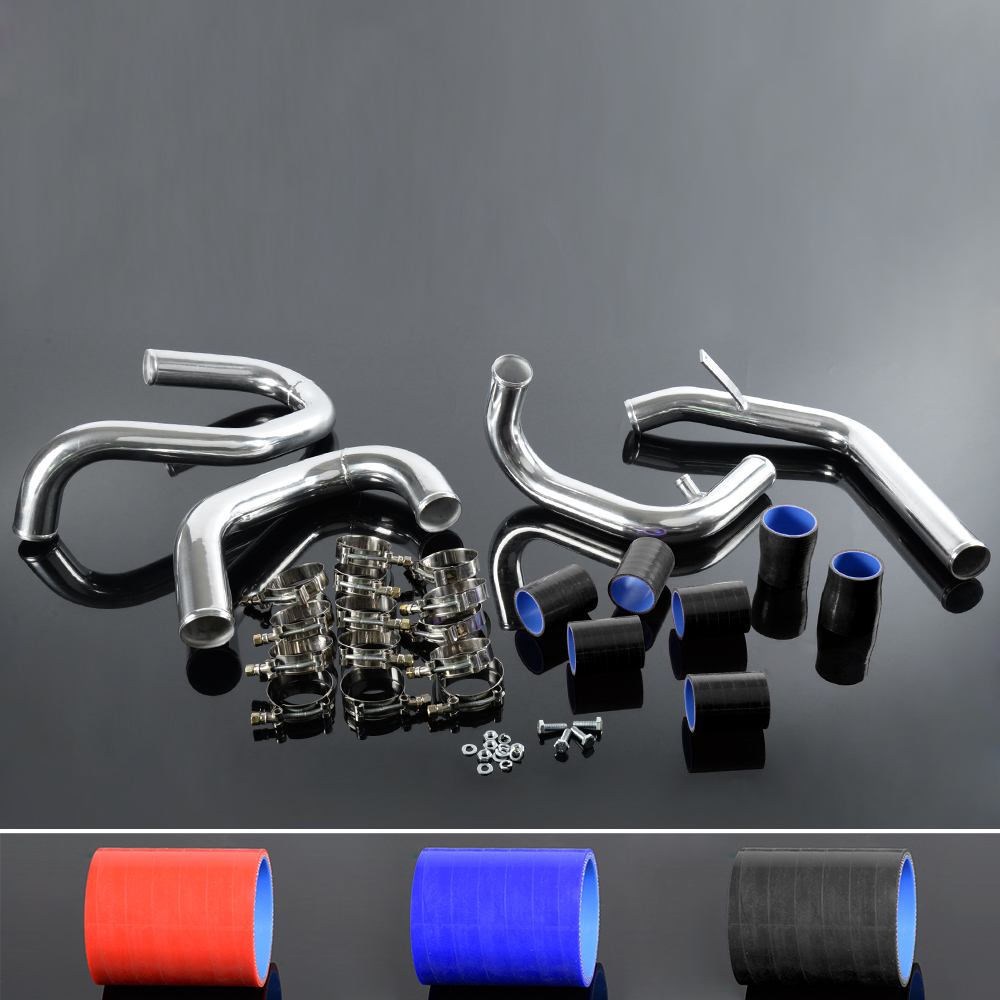 Vw Jetta Twin Turbo Kit: Bolt On Front Mount Intercooler Piping Kit Black Hose FOR