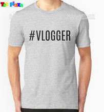 Teeplaza 2017 New T Shirt O-Neck Hashtag Vlogger Men Short Sleeve Short T Shirts
