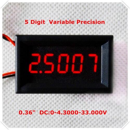 """RD 4 провода 0,3"""" точность переменной постоянного тока 0-33 в цифровой вольтметр напряжение Панель метр светодиодный дисплей Цвет [4 шт./лот] - Цвет: RED"""