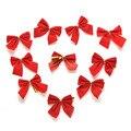 12 Pcs Decorações de Natal Suprimentos Árvores Pingente Bowknot Feliz Ano Novo Enfeites de natal Papai Noel Decoração De Natal Suprimentos