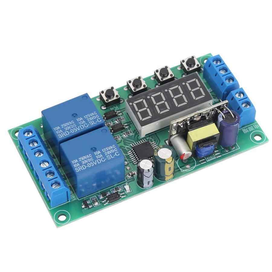 YF-7 AC 220 V double canal relais relais Module multifonctionnel impulsion déclencheur Cycle minuterie 0.01 s-999 m 5A relais temporisé