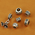 Beadia 925 Sterling Silver letter  Beads,Antique 925 Silver Tube beads,925 silver Flower Charms Pendant DIY Fashion Jewelry