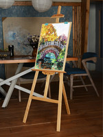 Artist Easel Caballete De Pintura Oil Paint Easel Stand Painting Accessories Foldable Wood Easel Stand Art Supplies for Artist