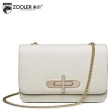 2017 New zooler genuine leather women bag brand fashion quality cowhide chains small bag women leather