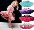 Moda Fofo Pettiskirts Chiffon tutu Bebê Meninas Saias Princesa saia Do Partido do desgaste da dança roupas 12 M-10 T