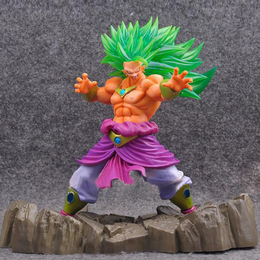 1pc/lot Anime Dragon Ball Z Figure Super Saiyan Broly PVC Action Figure Brinquedos Collectible Model Doll Kids Toys 17cm shf s h figuarts dragon ball z son gokou pvc action figure collectible model anime toys 16cm