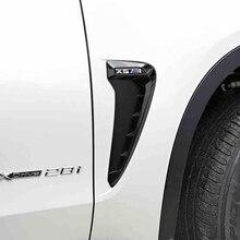 2Pcs For BMW X5 F15 F16 2014 2015 2016 Car Side Air Flow Fender Cover Trim Sticker Decoration Auto Accessories Car-Styling Man недорого