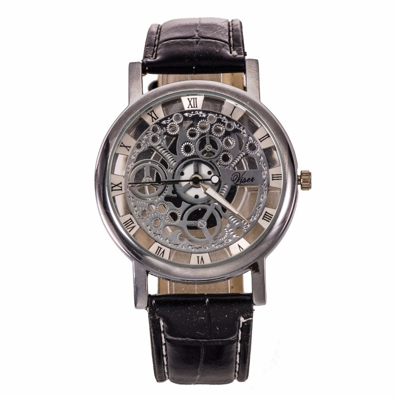Fashion Skeleton Wrist Watch Men Watch Top Brand Luxury Mens Watches Hollow Out Men's Watch Clock Saati Relogio Masculino Reloj