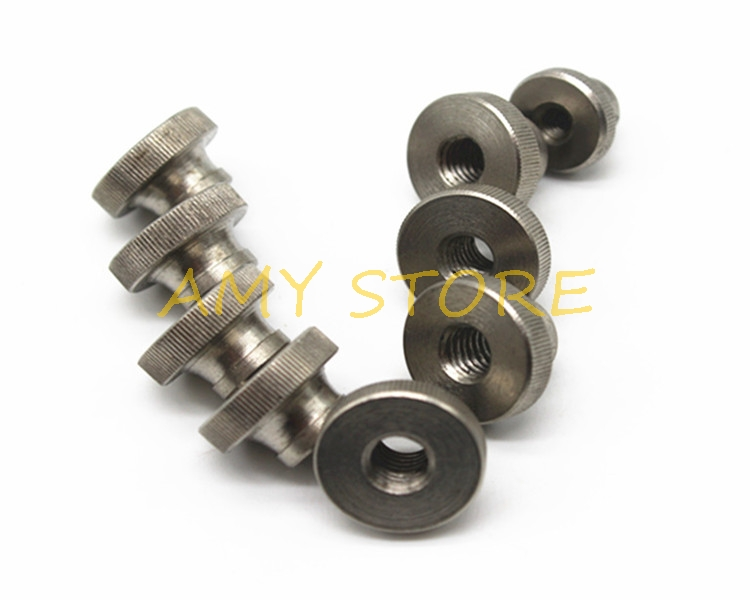 10pcs M3 x 0.5mm SS304 Stainless Steel Knurled Thumb Nut Right Hand Threaded