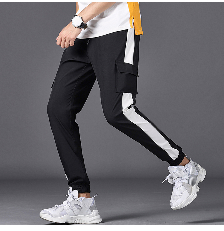 Spring Autumn Mens Casual Sweatpants 2019 New Men's Sportswear Jogging Pencil Pants Fitness Breathable Male Side Stripe Trousers
